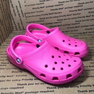 Crocs Brand New! Women's Pink Slip On's Clog's